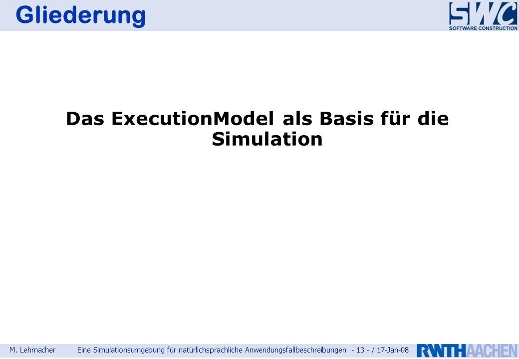 Das ExecutionModel als Basis für die Simulation