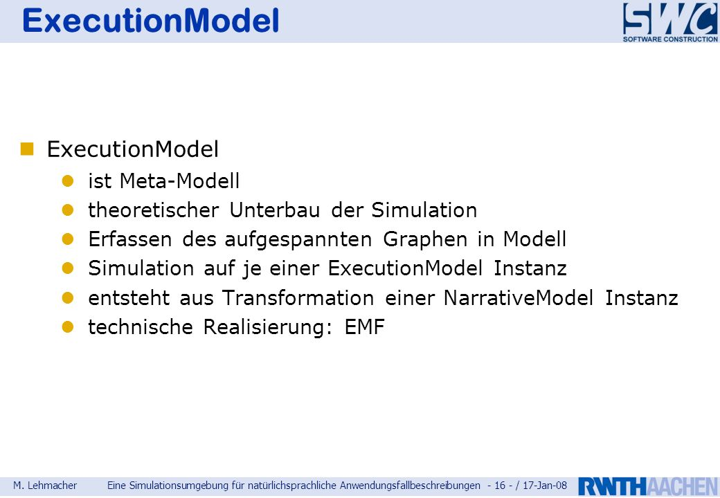 ExecutionModel ExecutionModel ist Meta-Modell