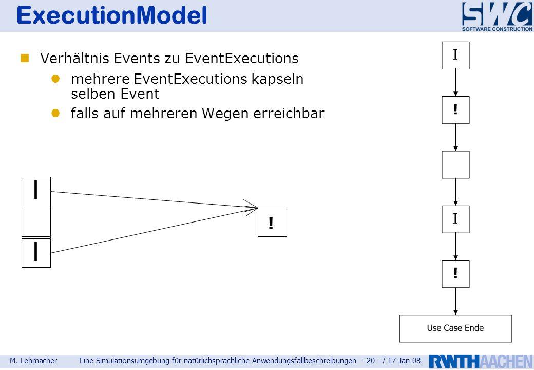 ExecutionModel ! Verhältnis Events zu EventExecutions