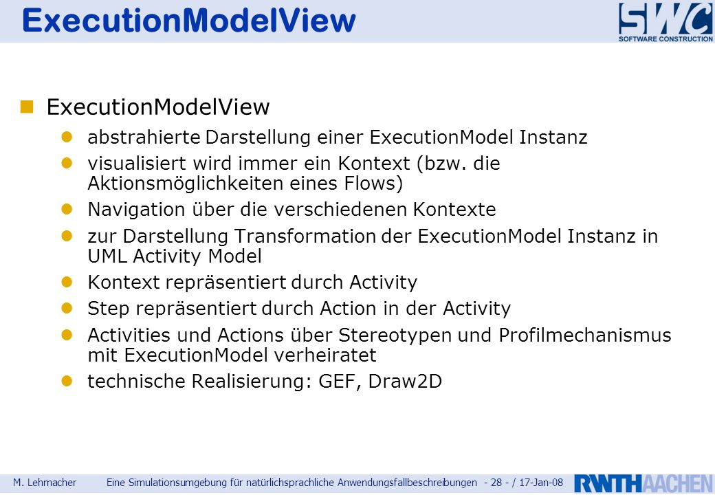 ExecutionModelView ExecutionModelView
