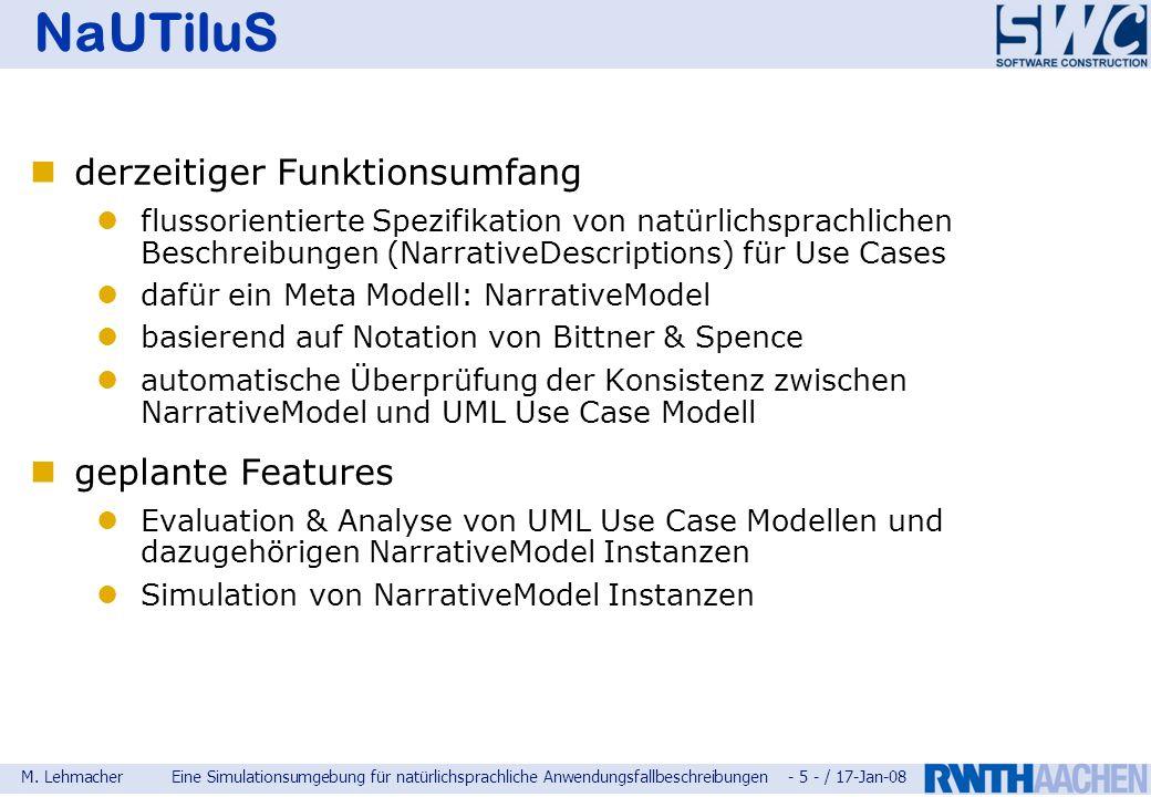 NaUTiluS derzeitiger Funktionsumfang geplante Features