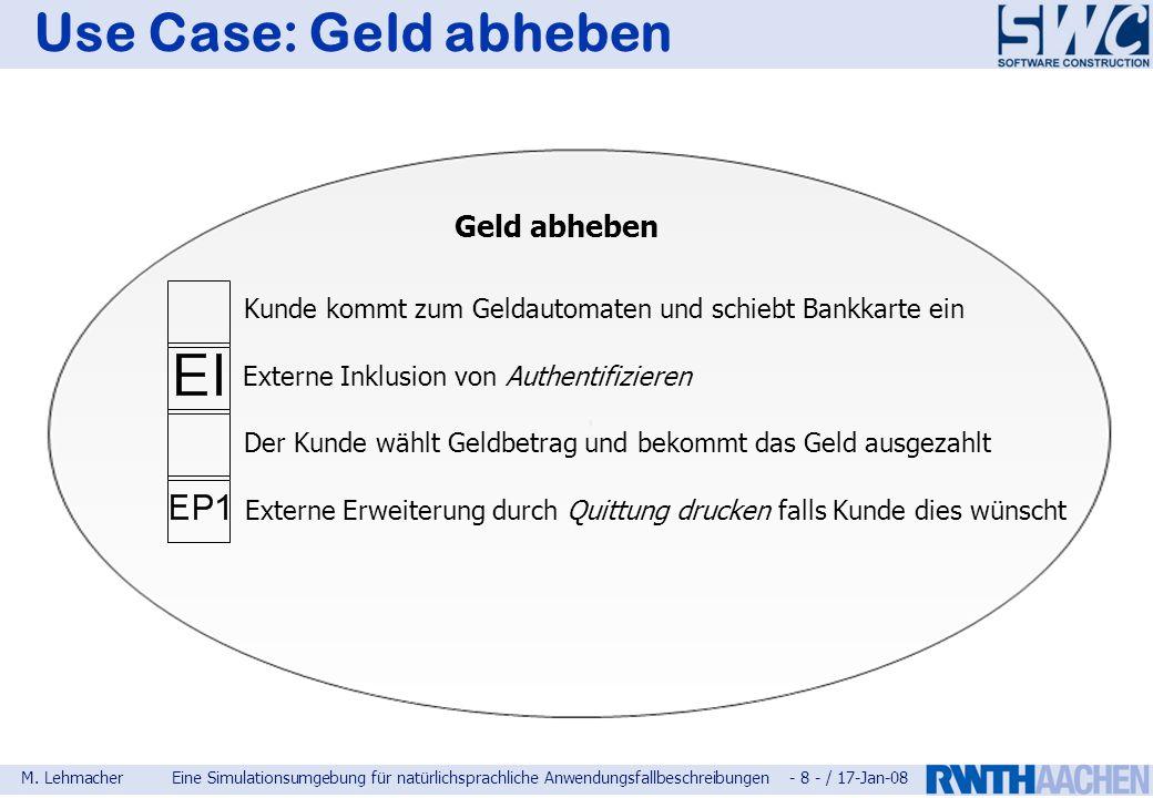 Use Case: Geld abheben Geld abheben
