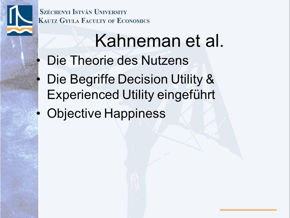 Kahneman et al. Die Theorie des Nutzens