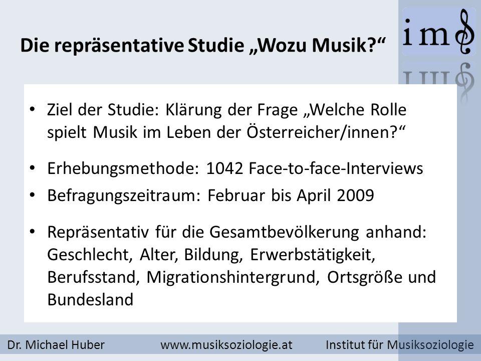 """Die repräsentative Studie """"Wozu Musik"""