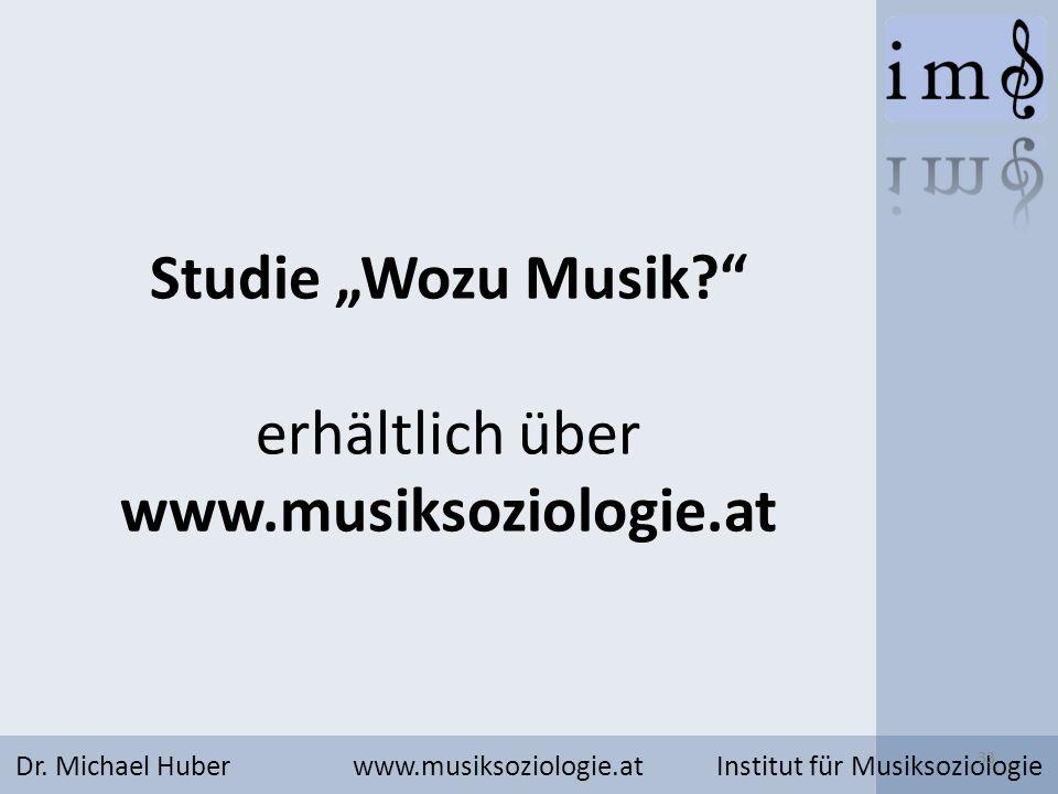 """Studie """"Wozu Musik erhältlich über www.musiksoziologie.at"""