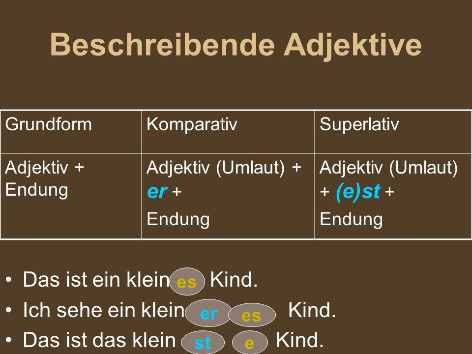 Beschreibende Adjektive