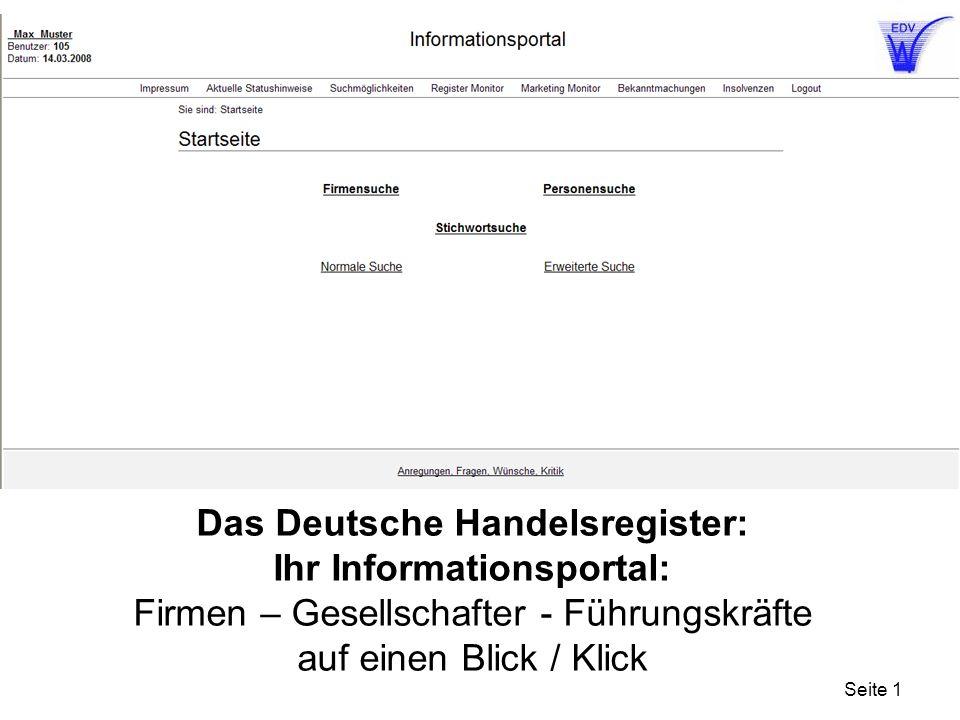 Das Deutsche Handelsregister: