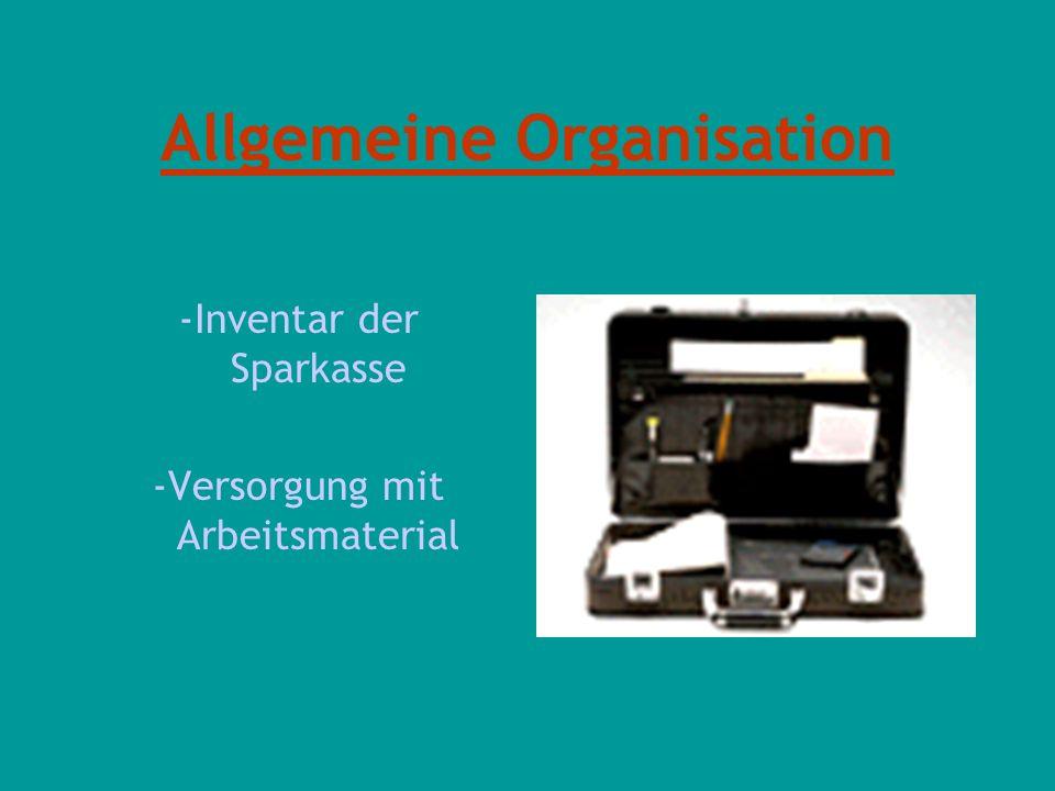 Allgemeine Organisation
