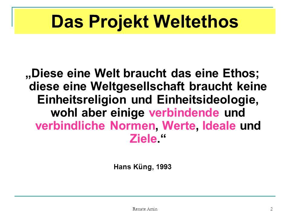 Das Projekt Weltethos
