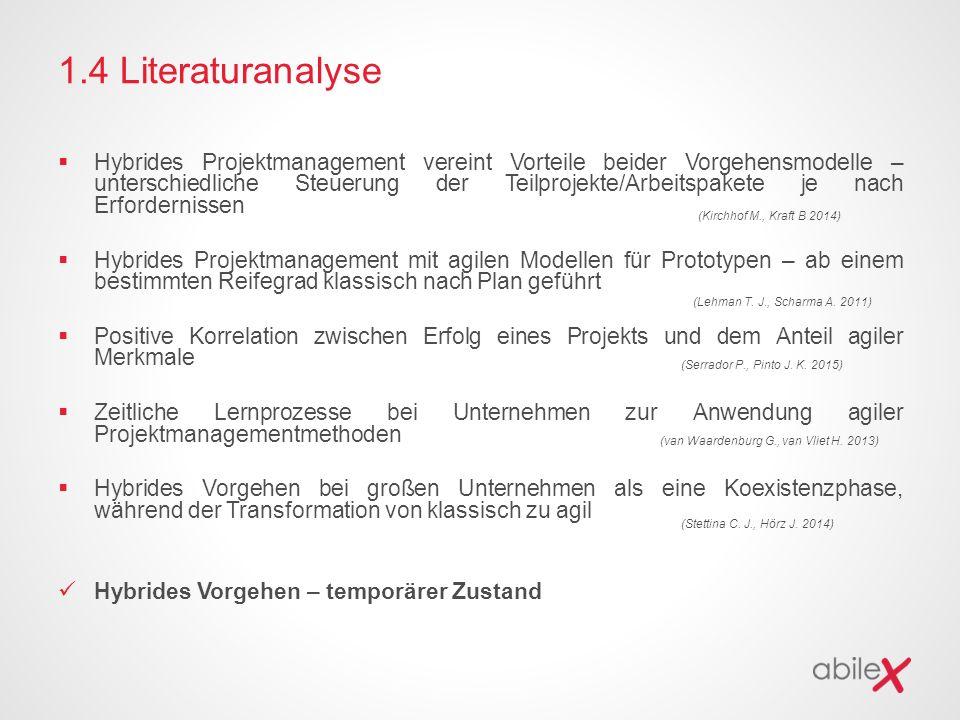 1.4 Literaturanalyse