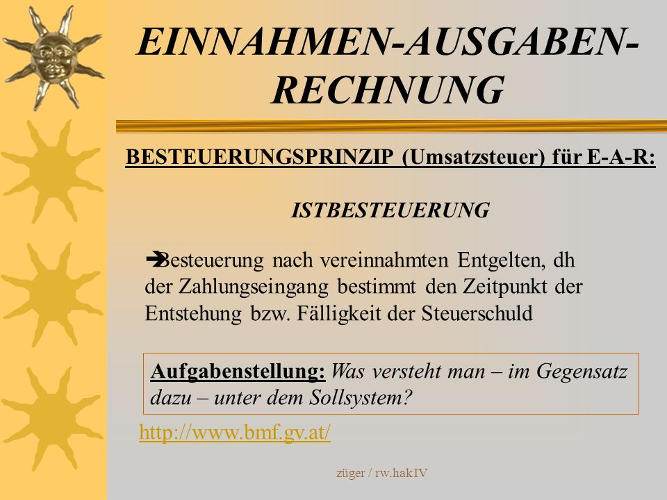 EINNAHMEN-AUSGABEN-RECHNUNG