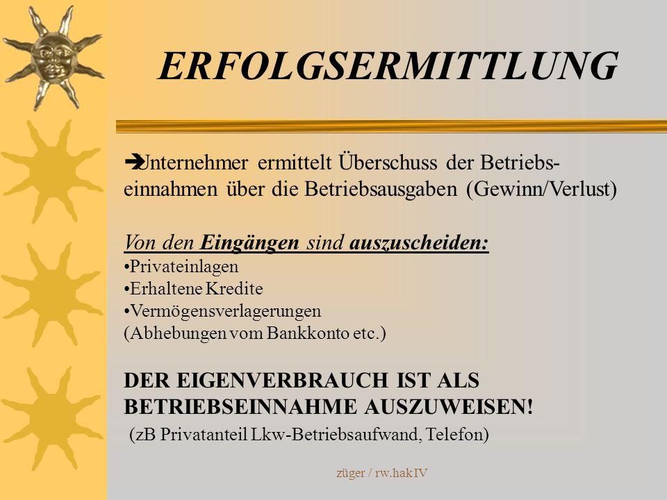 ERFOLGSERMITTLUNG Unternehmer ermittelt Überschuss der Betriebs-