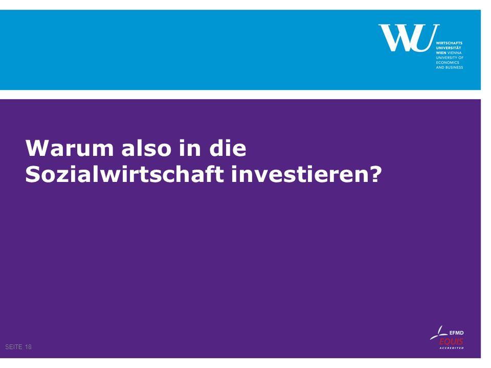 Warum also in die Sozialwirtschaft investieren