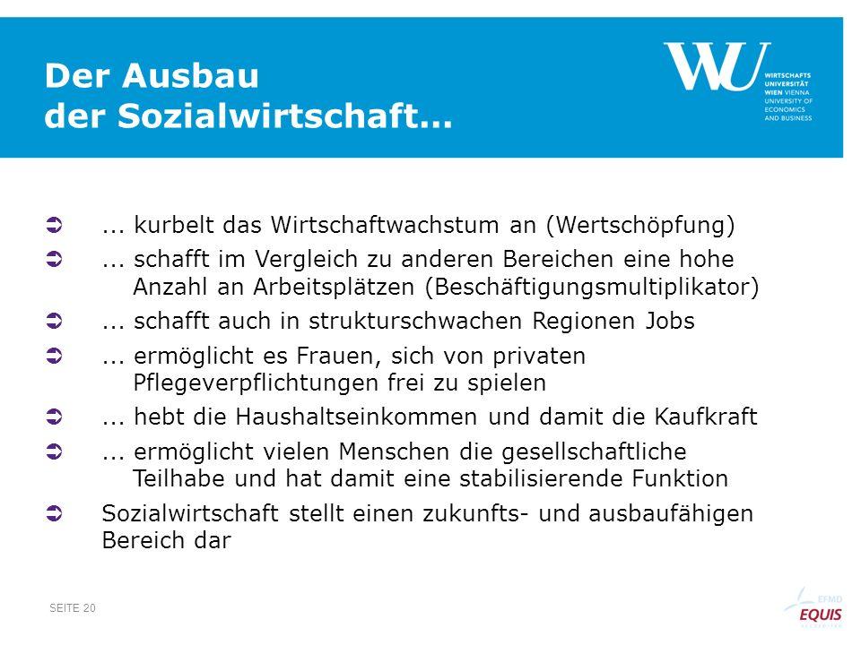 Der Ausbau der Sozialwirtschaft...