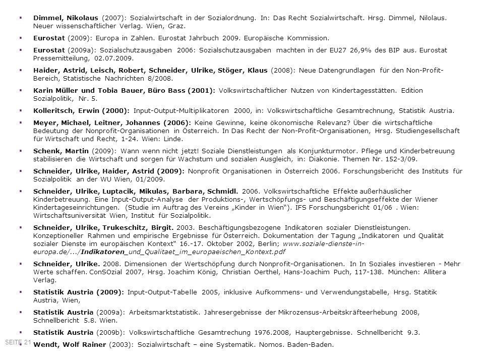 Dimmel, Nikolaus (2007): Sozialwirtschaft in der Sozialordnung