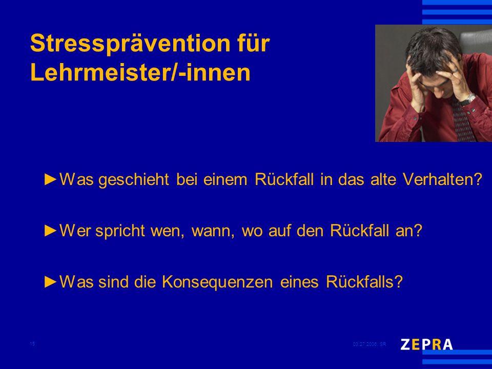 Stressprävention für Lehrmeister/-innen