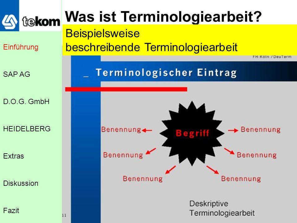 Was ist Terminologiearbeit