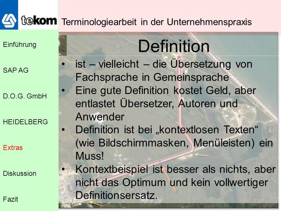 Terminologiearbeit in der Unternehmenspraxis