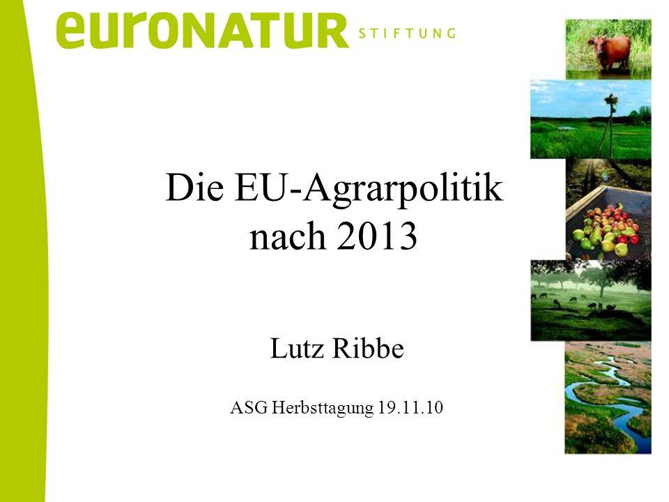 Die EU-Agrarpolitik nach 2013