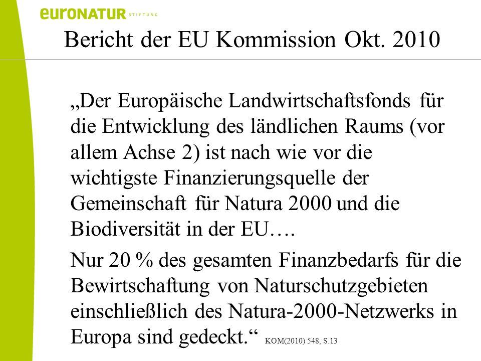 Bericht der EU Kommission Okt. 2010