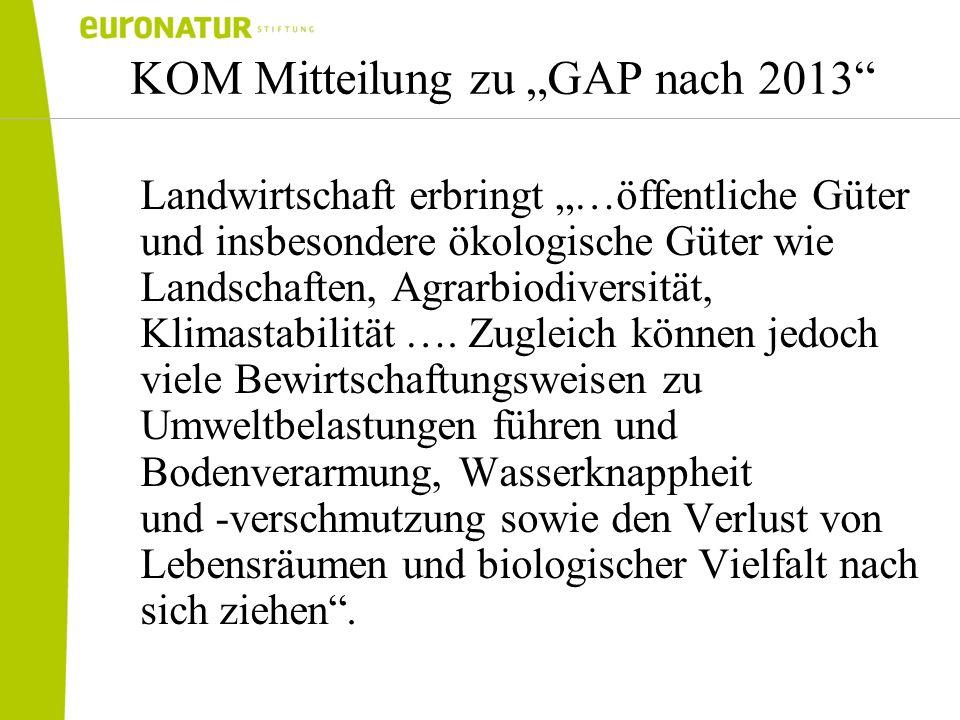 """KOM Mitteilung zu """"GAP nach 2013"""