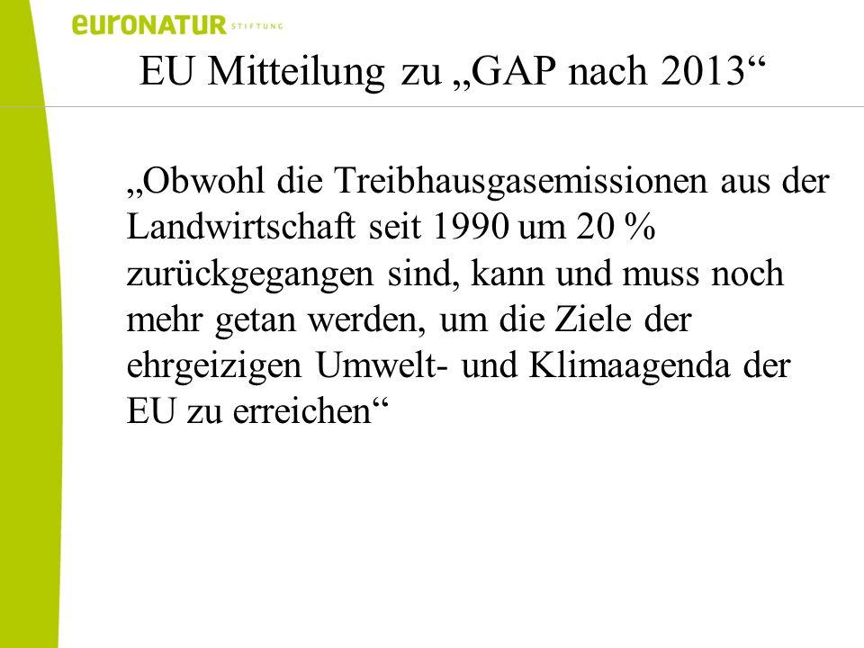 """EU Mitteilung zu """"GAP nach 2013"""