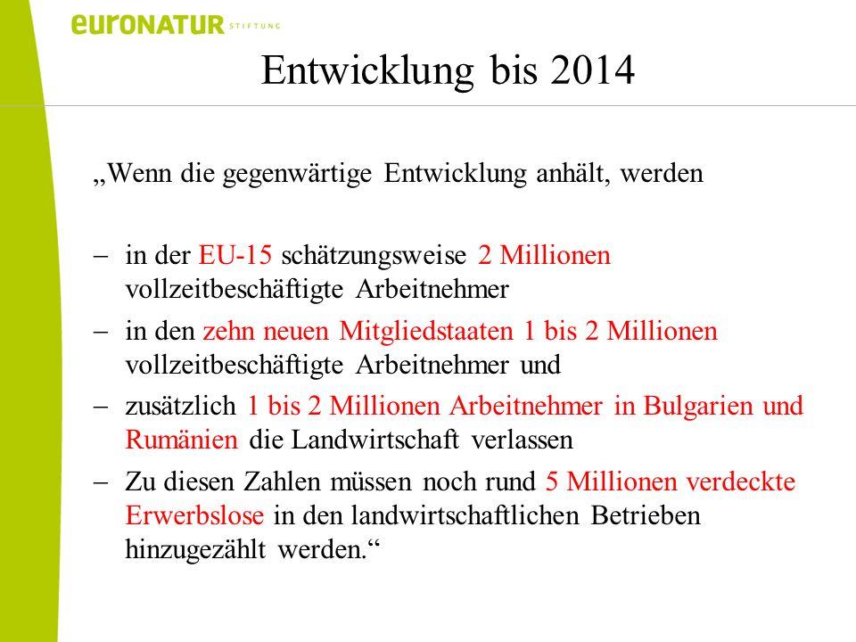 """Entwicklung bis 2014 """"Wenn die gegenwärtige Entwicklung anhält, werden"""
