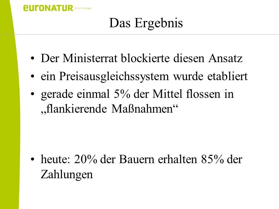 Das Ergebnis Der Ministerrat blockierte diesen Ansatz
