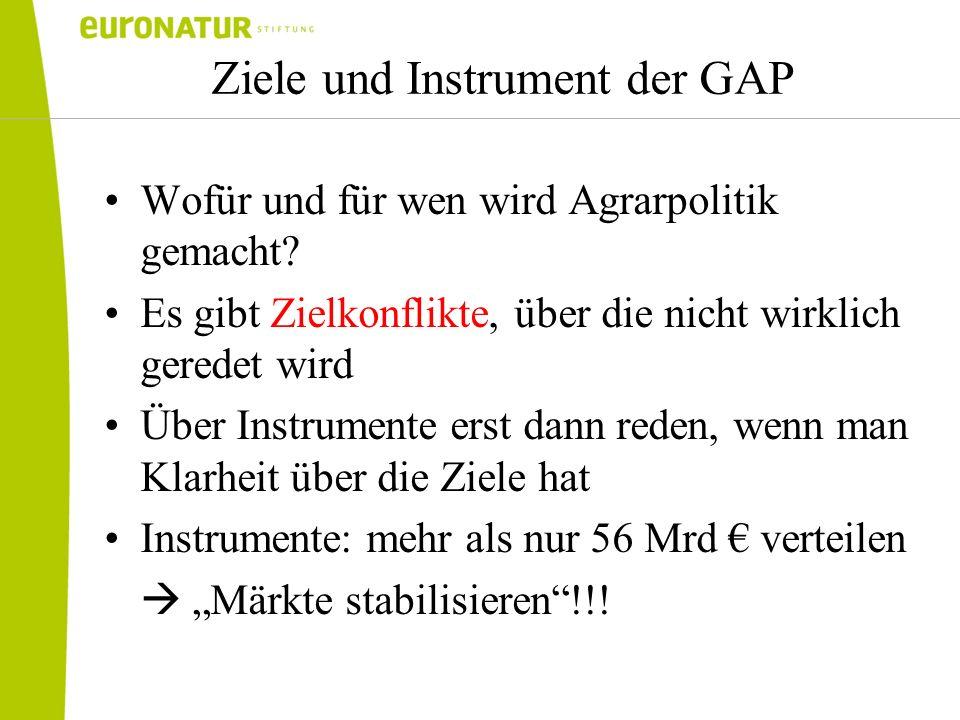 Ziele und Instrument der GAP