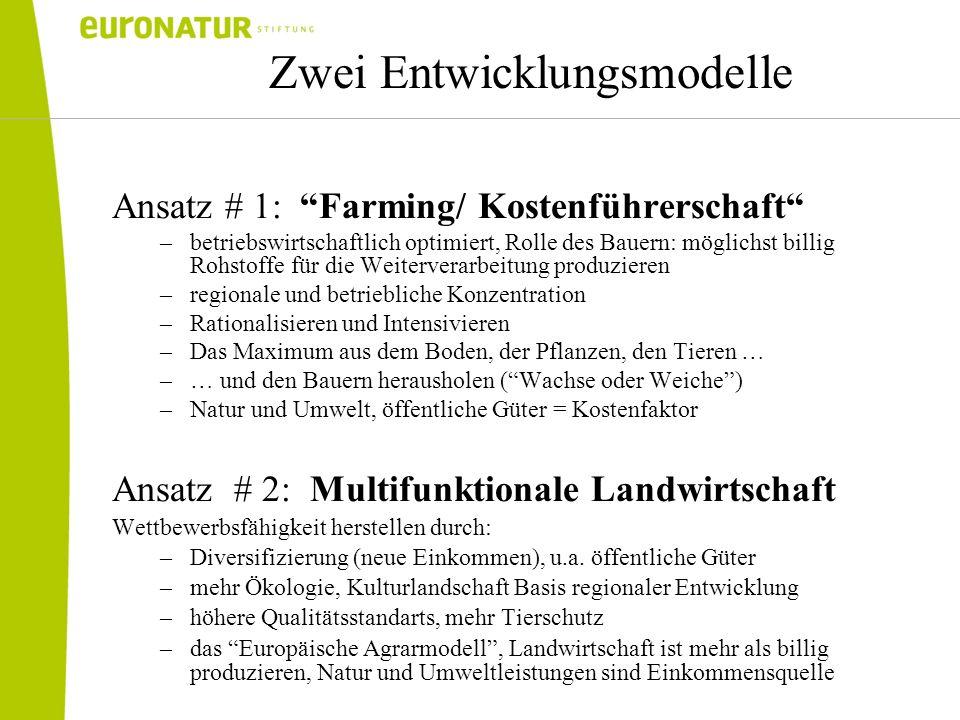 Zwei Entwicklungsmodelle