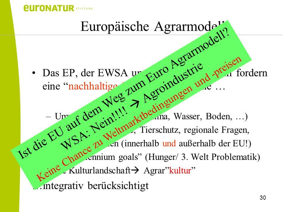 Europäische Agrarmodell