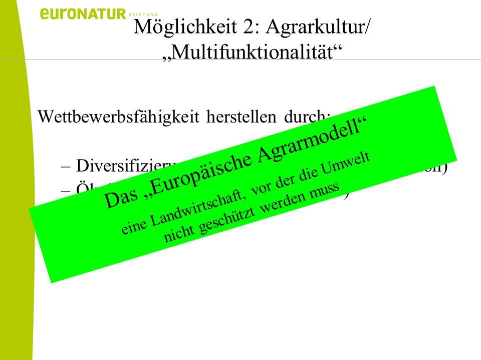 """Möglichkeit 2: Agrarkultur/ """"Multifunktionalität"""