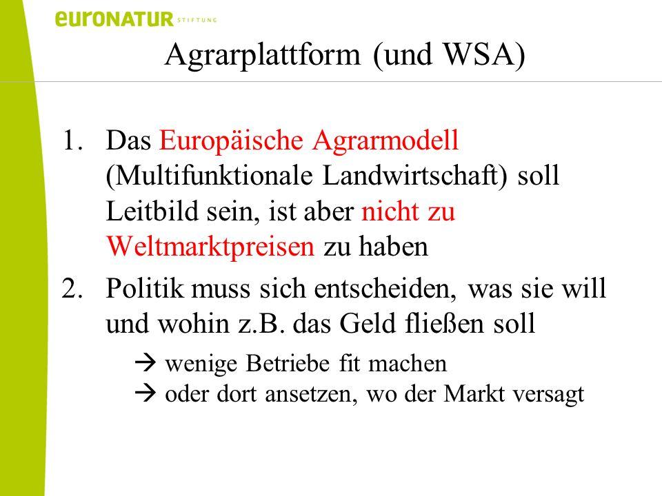 Agrarplattform (und WSA)