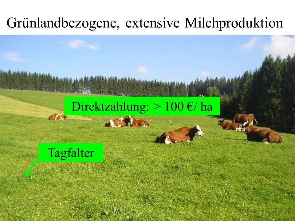 Grünlandbezogene, extensive Milchproduktion