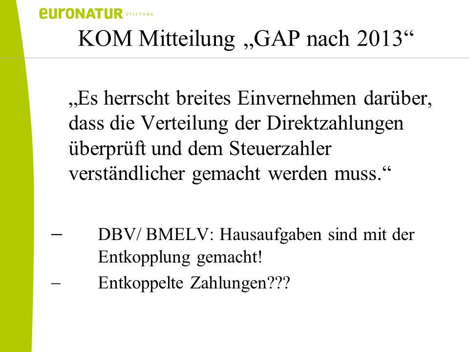 """KOM Mitteilung """"GAP nach 2013"""