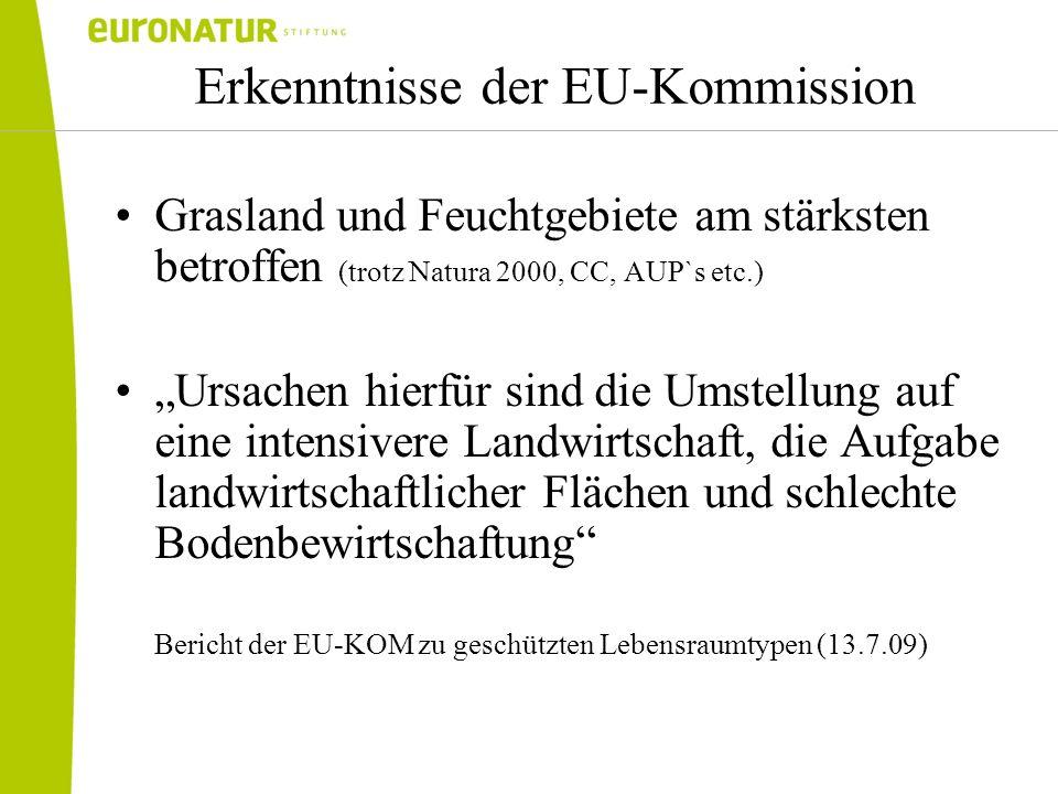 Erkenntnisse der EU-Kommission