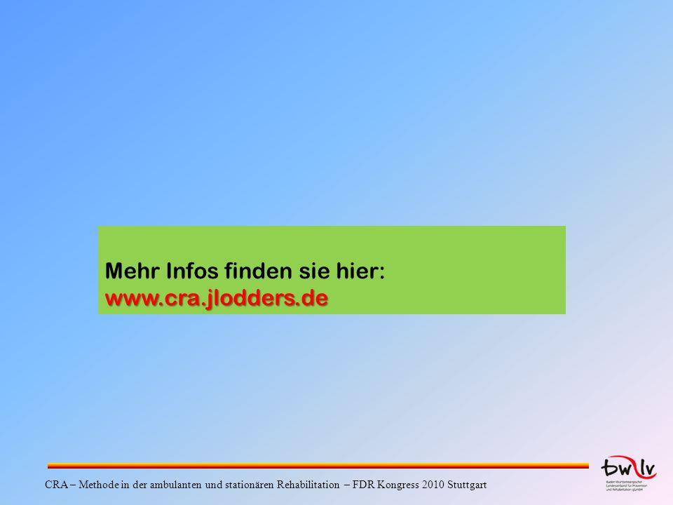 Mehr Infos finden sie hier: www.cra.jlodders.de