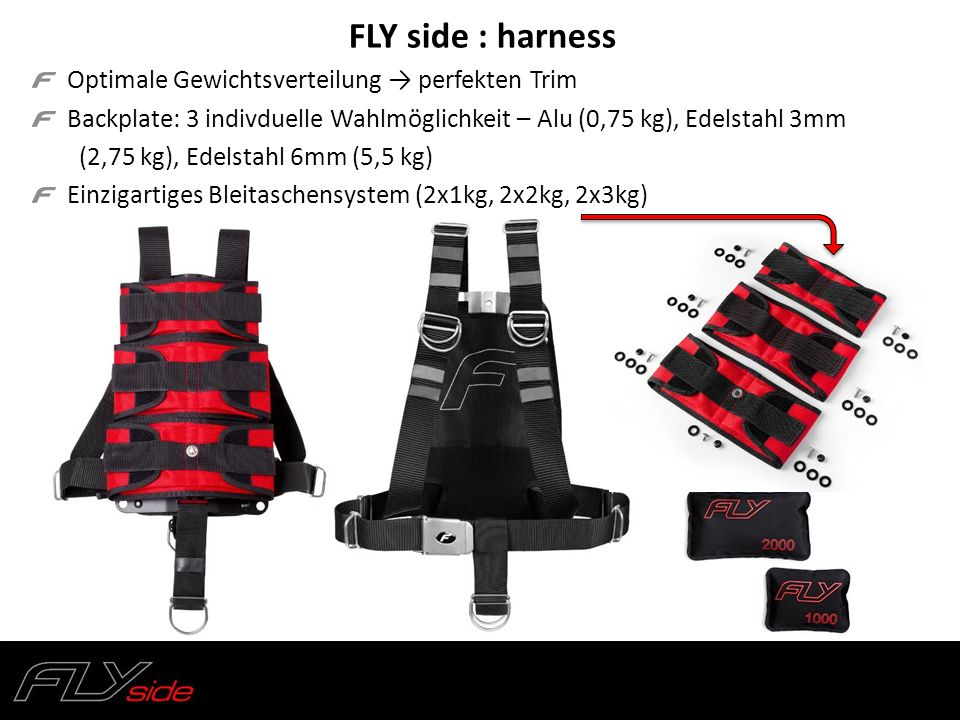 FLY side : harness Optimale Gewichtsverteilung → perfekten Trim
