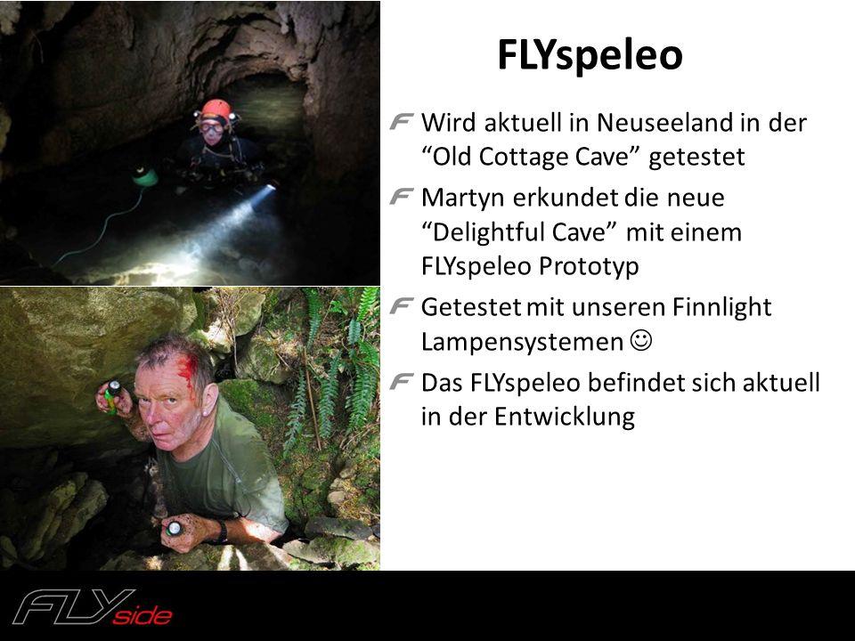 FLYspeleo Wird aktuell in Neuseeland in der Old Cottage Cave getestet. Martyn erkundet die neue Delightful Cave mit einem FLYspeleo Prototyp.