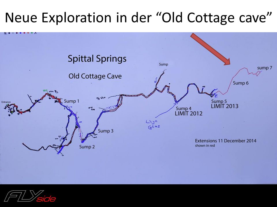 Neue Exploration in der Old Cottage cave