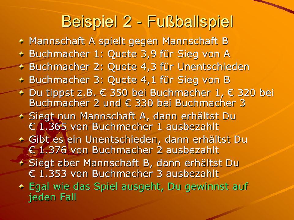 Beispiel 2 - Fußballspiel