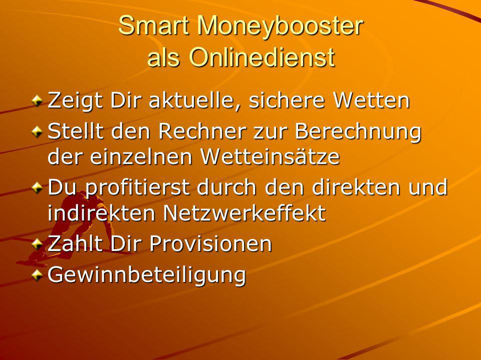 Smart Moneybooster als Onlinedienst