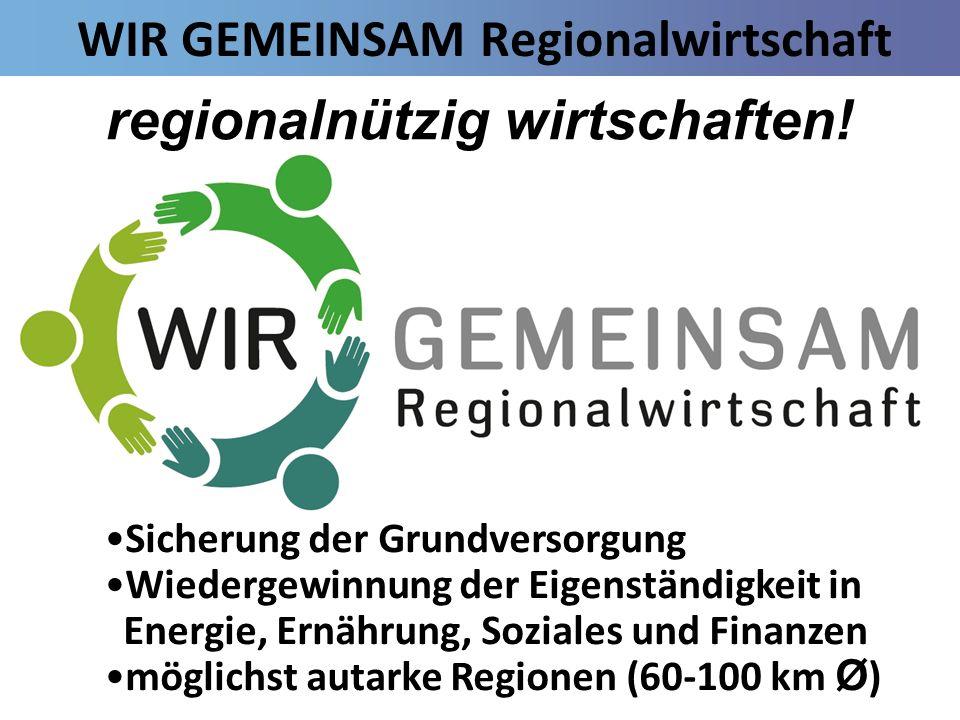 WIR GEMEINSAM Regionalwirtschaft