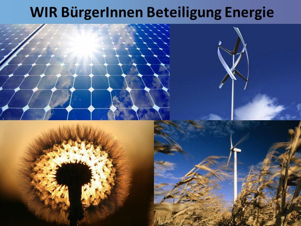 WIR BürgerInnen Beteiligung Energie