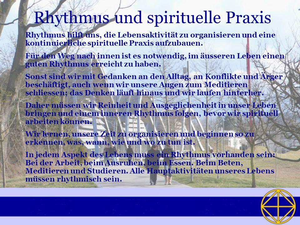 Rhythmus und spirituelle Praxis