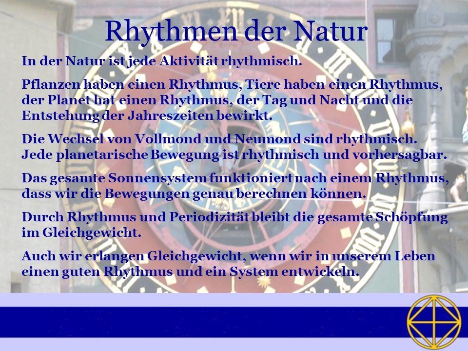Rhythmen der Natur In der Natur ist jede Aktivität rhythmisch.