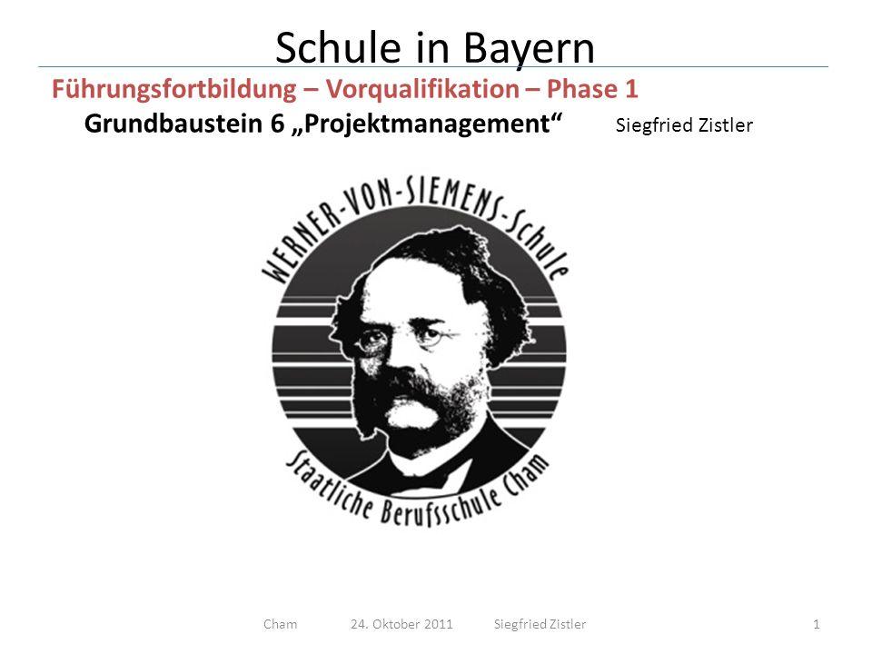 Cham 24. Oktober 2011 Siegfried Zistler