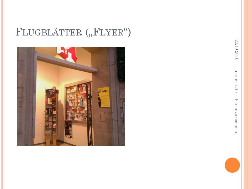 """Flugblätter (""""Flyer )"""