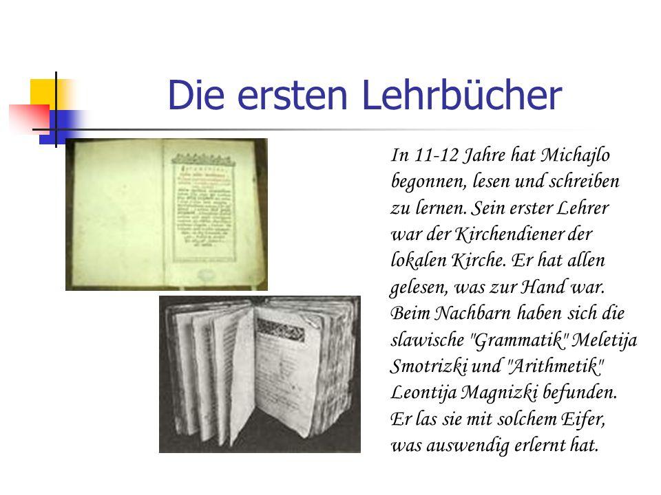 Die ersten Lehrbücher