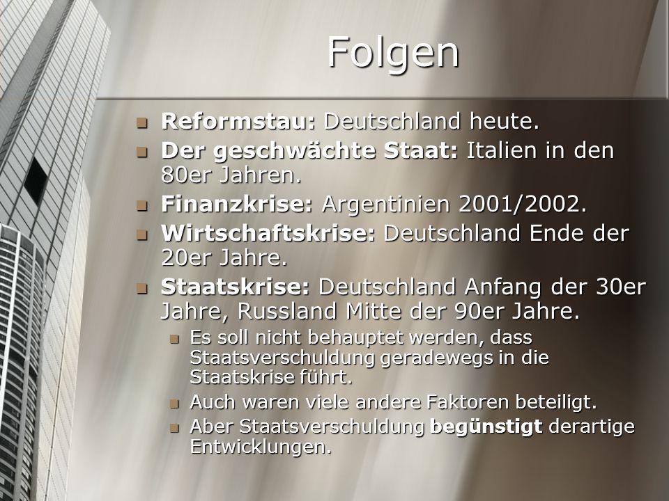 Folgen Reformstau: Deutschland heute.